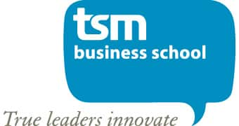 Logo TSM Business School, Jerphaas verzorgde workshops voor TSM Business School